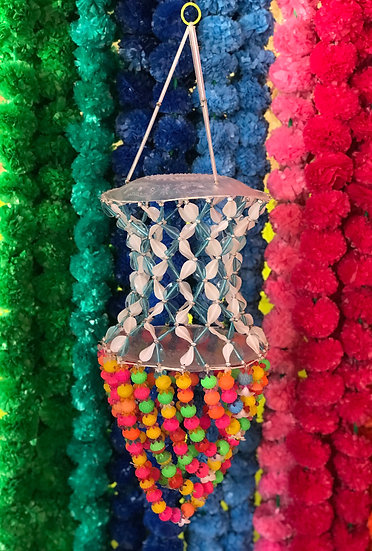 Indian Multicolour Beaded Ceiling Hangy