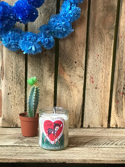 Valentine Bambi Small Candle