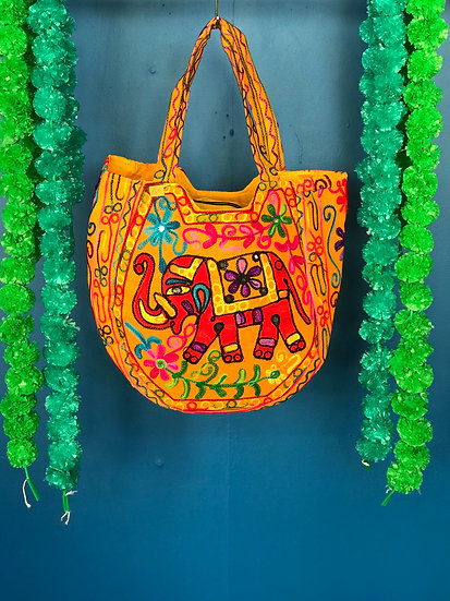 Boho Indian Embroidered Handbag - Lovely and Large