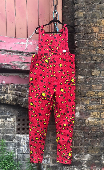 Red with Yellow and Black Stars Rockafella Originals Dungarees