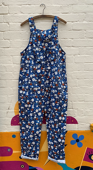 Daisy, Ladybird Print Dunagrees Twill - Run & Fly