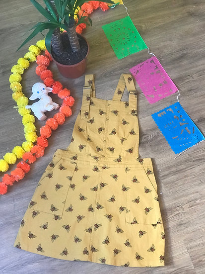 Yellow Bee Pinafore Twill - Run & Fly