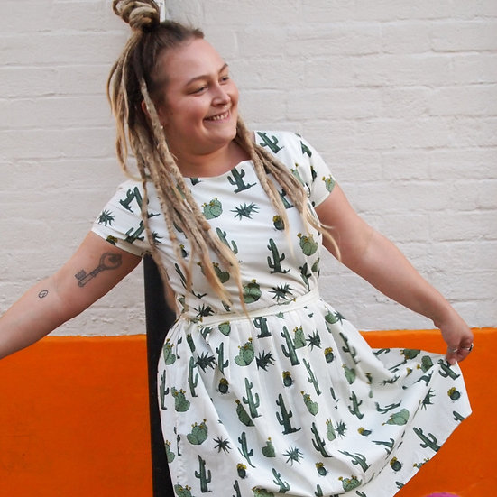 Cactus Print Dress - Run & Fly