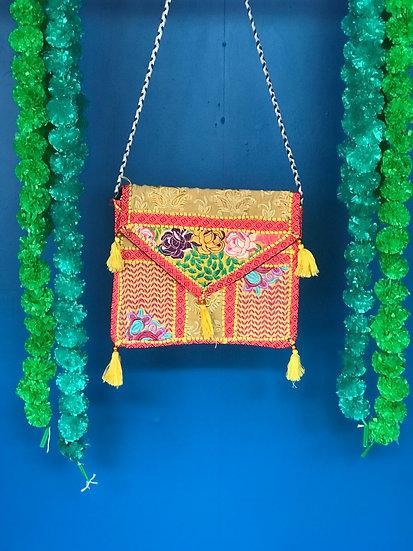 Boho Indian Patchwork Handbag - Envelope Shoulder Bag