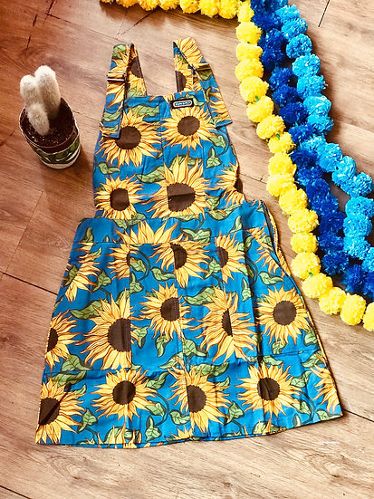 Sunflower Pinafore Twill - Run & Fly
