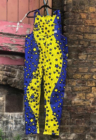 Yellow and Blue Stars Rockafella Originals Dungarees