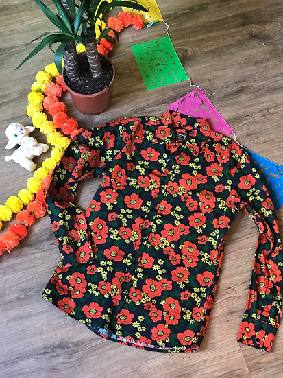 Red Poppy Short Sleeve Shirt - Run & Fly
