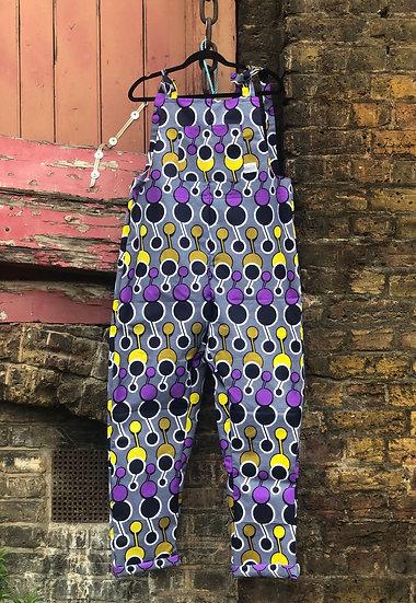 Yellow, Purple and Grey Rockafella Originals Dungarees