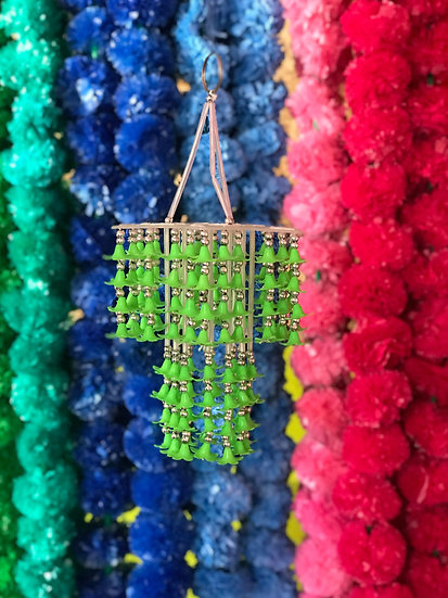 Indian Green Beaded Ceiling Hangy