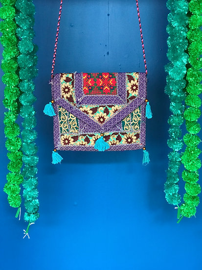 Boho Indian Patchwork Handbag - Envelope Shoulder Bag