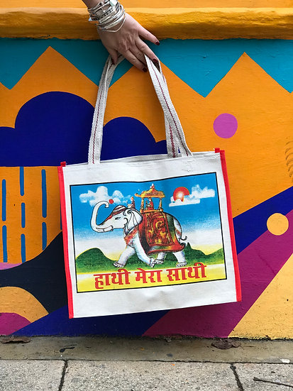 Indian Market Bag - Royal Elephant