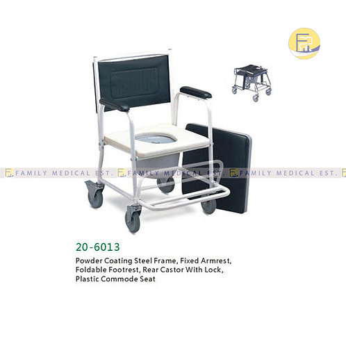 CHAIR: COMMODE + WHEELS 20-6013 PRIME