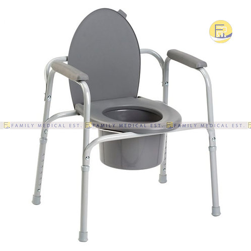 CHAIR: COMMODE + WHEELS LD40038 LORD
