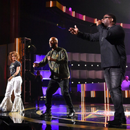 William Murphy, Common, and Erykah Badu perform onstage at Black Girls Rock 2019