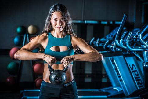 Kayla Kettlebells in the Gym