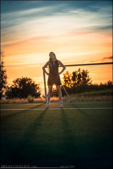 Senior Photos Soccer Sunset