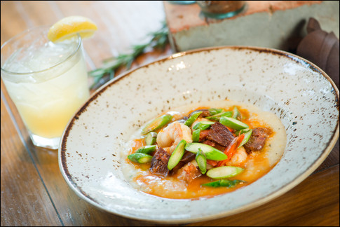 Texas Spice at Omni Hotel presents their Shrimp Grits