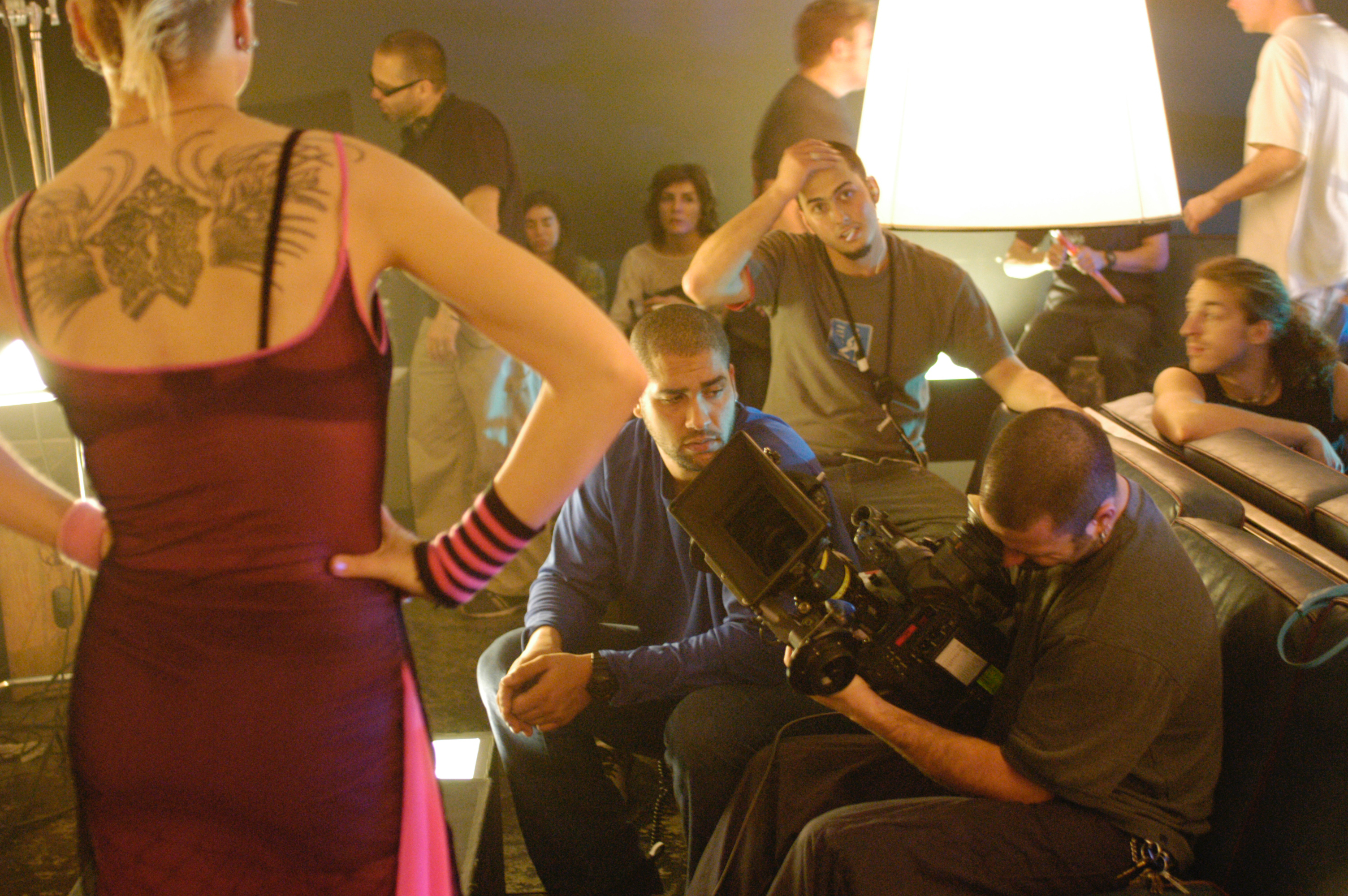 Pure - Cinematographer Jean-Pierre Gauthier lining up a shot on the set of pure  2003