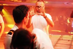 Pure - Director Jim Donovan and Actor Gianpaolo Venuta and Actress Laura Jordan on the set 2003