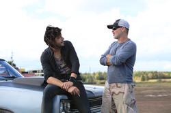 Le Clan - Shooting Le Clan Season 1 with actors Pierre-Yves Cardinal 2014