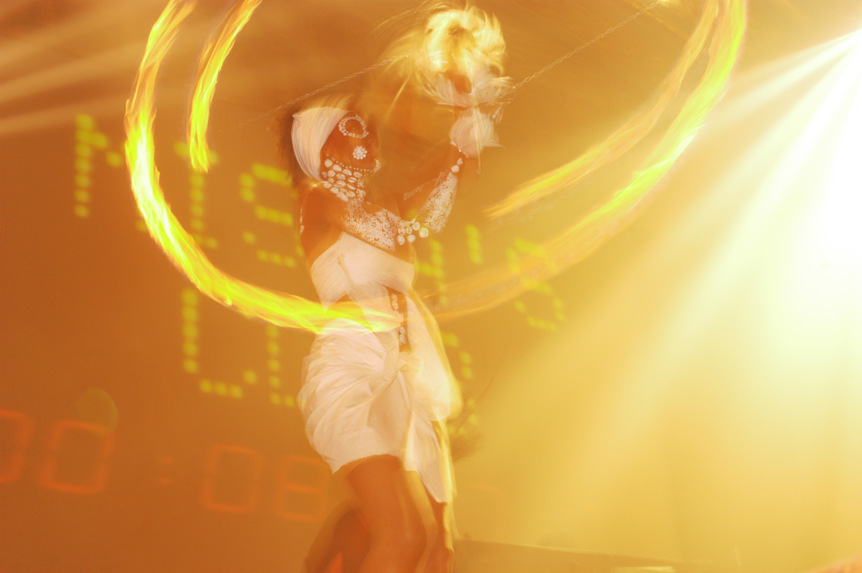 Pure - Firedancer performing on the set 2003-2