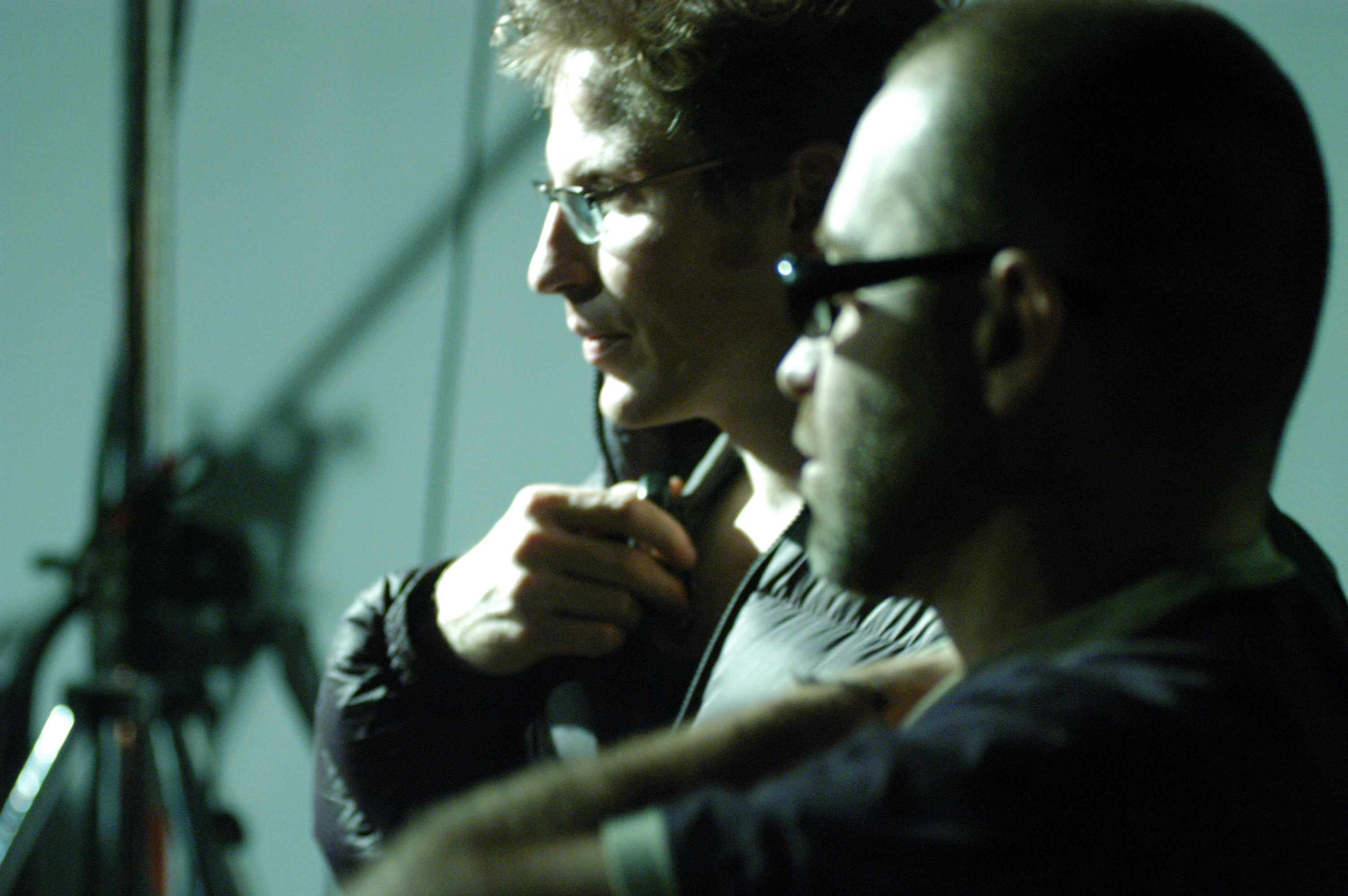 Pure - Director Jim Donovan and 1st AD Richard Lehun on the set 2003