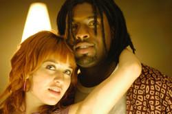 Pure - Actors Abeille Gélinas and Gage Pierre on set 2003