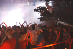 Pure - Cinematographer Jean-Pierre Gauthier lining up a crane shot on set 2003