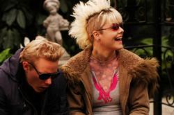 Pure - Actors Robert Crooks and Karen Simpson on set 2003
