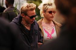 Pure - Actors Robert Crooks and Karen Simpson on set 2003-2