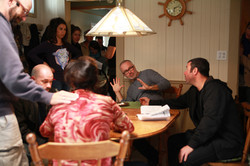 Le Clan - Shooting Season 1 with actors André Roy and Denise Bouchard 2014