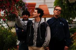 Pure - Actors Gianpaolo Venuta and Brian D Wright on the set 2003