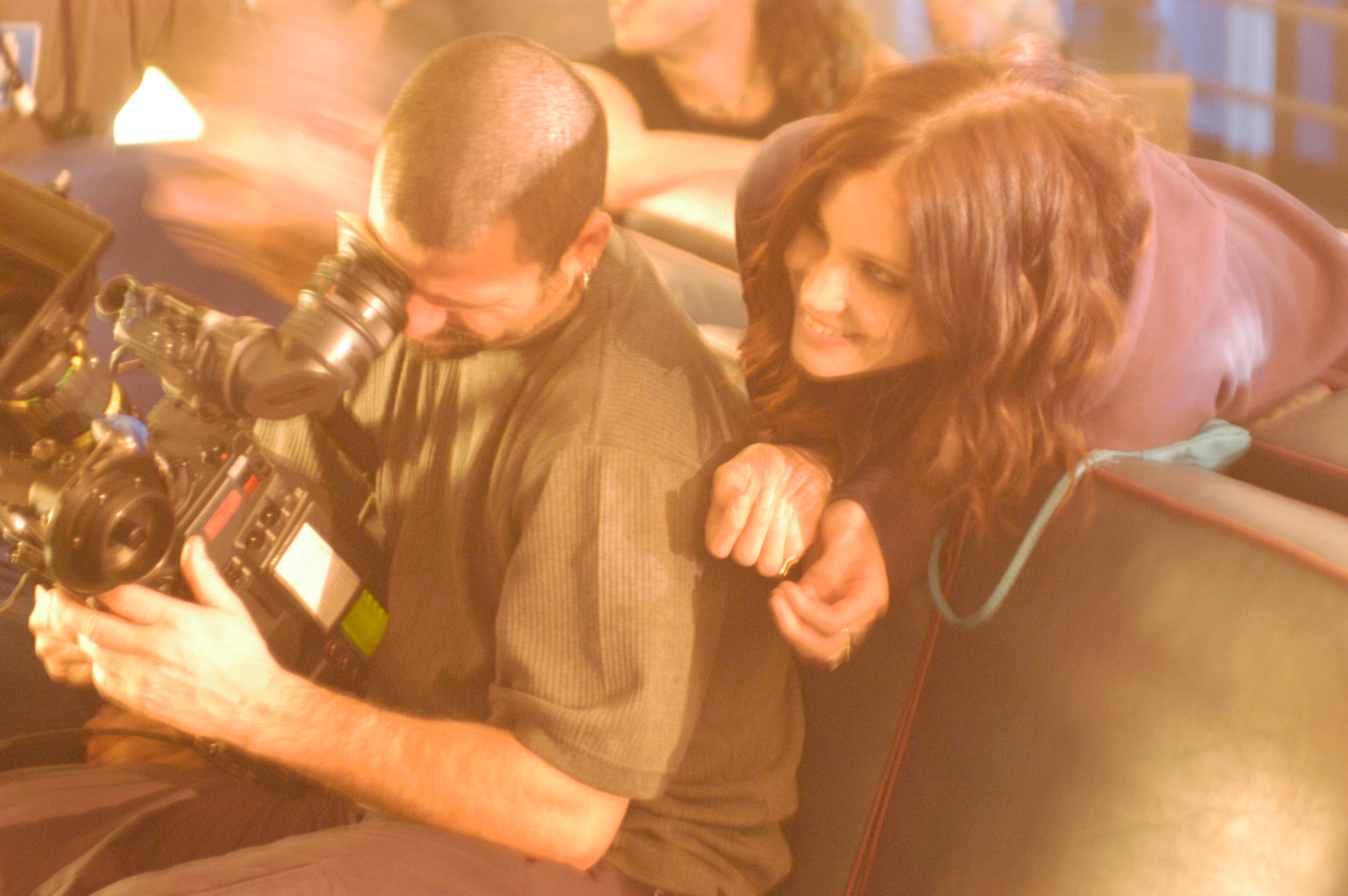 Pure - Cinematographer Jean-Pierre Gauthier and actress Laura Jordan on set 2003