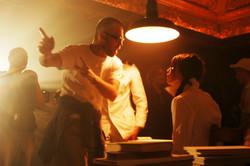 Pure - Director Jim Donovan and Actress Laura Jordan on the set of Pure 2003