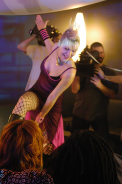 Pure - Actress Karen Simpson on set at the Rialto 2003