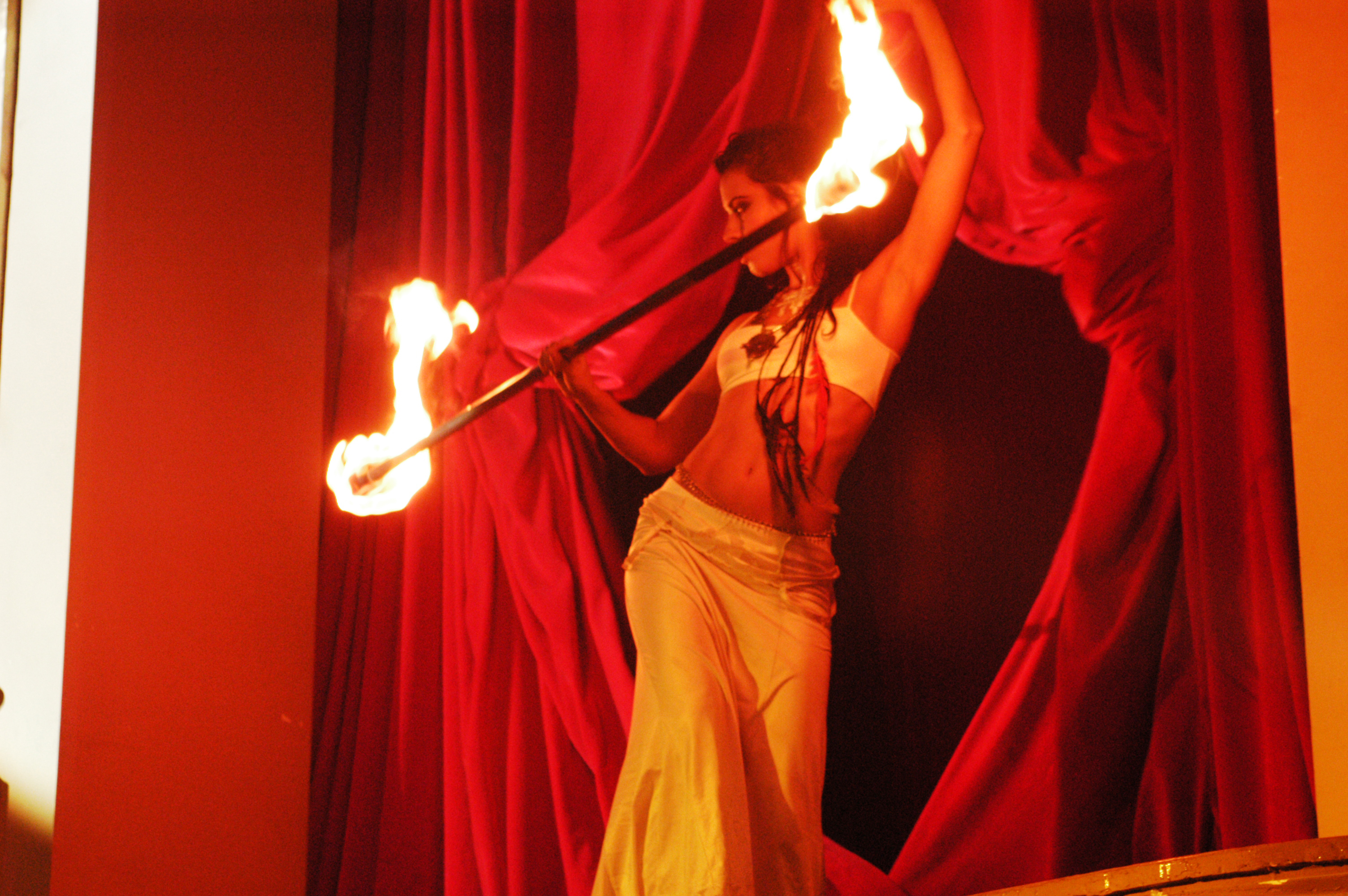 Pure - Firedancer performing on the set 2003-4