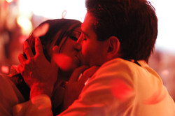 Pure - Actress Laura Jordan and Actor Gianpaolo Venuta on set 2003