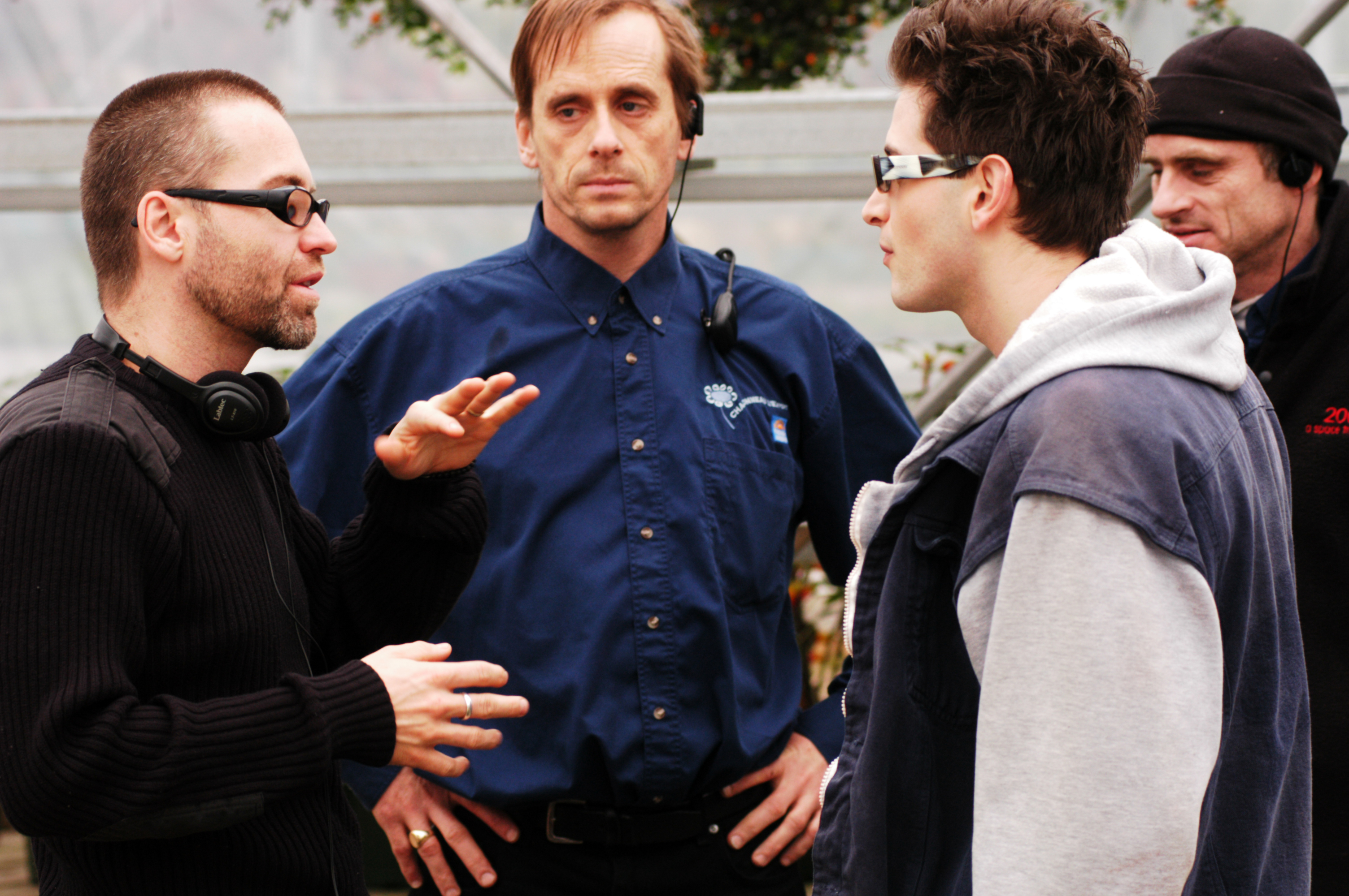 Pure - Director Jim Donovan and Actors Gianpaolo Venuta and Brian D. Wright on the set 2003