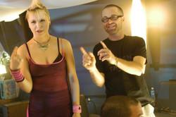 Pure - Actress Karen Simpson and Jim Donovan on the set 2003