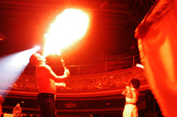 Pure - Firedancer performing on the set 2003-1