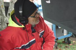 Le Clan - Jim Donovan at the monitor on the set of Season 1 2014