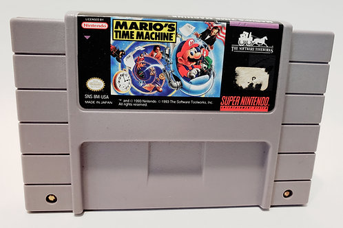 (Used) Mario's Time Machine [Super Nintendo/SNES] Cleaned & Tested