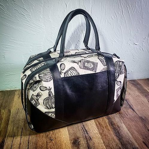 (Vintage Bottles) Hand-crafted Handbag