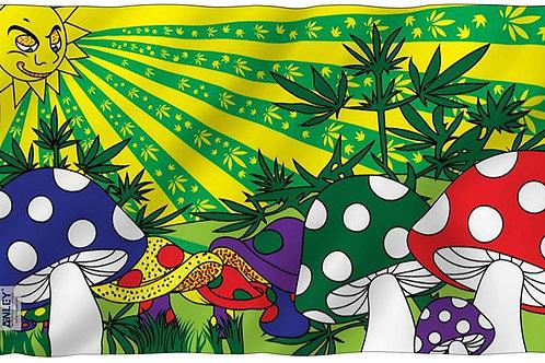 Mushroom Paradise Flag