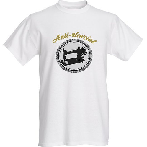 Anti-Sewcial Fruit of the Loom® ink printed heavy cotton HD™ T-shirts (Sewlogo)