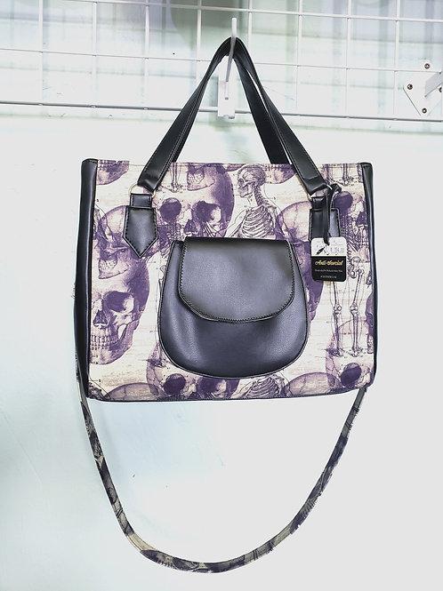 Purple Anatomy Large Hand/Shoulder Bag