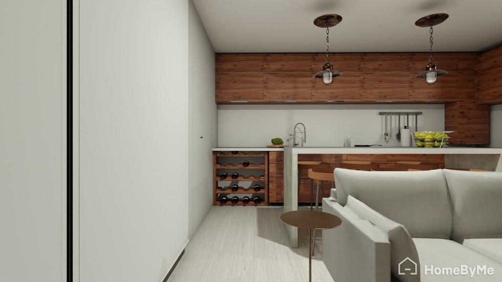 Cocina concepto abierto con isla