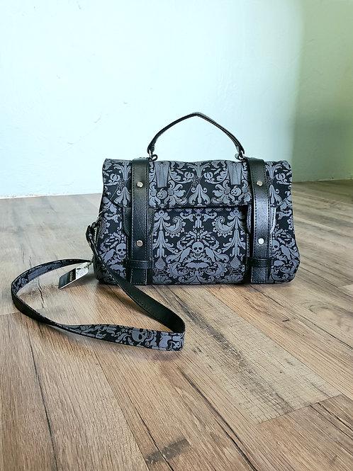 Skully Damask Mini Messenger Bag