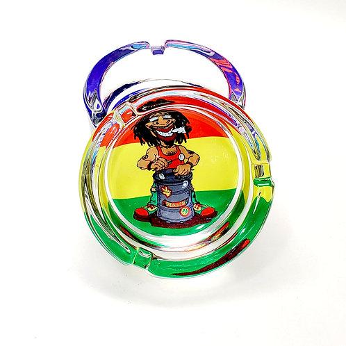 Glass Ashtray (Rasta Man)