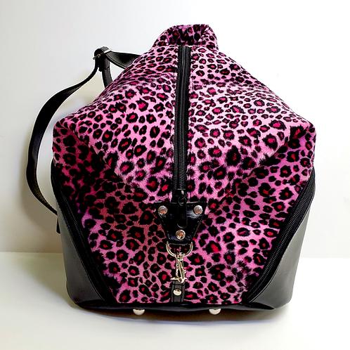 Pink leopard medium sided backpack